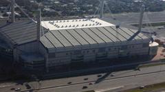 4K UltraHD Aerial timelapse view of San Antonio traffic near Alamodome Stock Footage