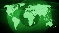 Technology network connect background 4K space green Stock Footage