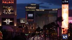Caesars Palace Mirage Treasue Island - stock footage