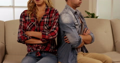 Young couple quarreling Stock Footage