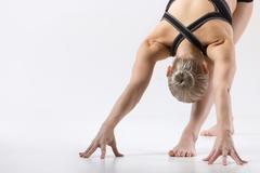 Intense Side Stretch Pose Stock Photos