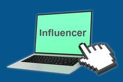 Influencer concept Stock Illustration
