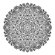 Abstract Flower Mandala. Decorative ethnic element for design - stock illustration