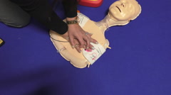 CPR performed on manikin Arkistovideo
