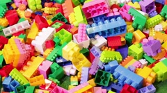 Colorful constructor bricks. Stock Footage