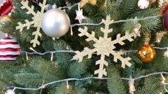 Ornated christmas tree Stock Footage