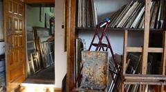 Art studio interior  Stock Footage