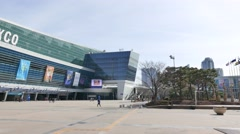 Busan Exhibition and Convention Center (BEXCO) Stock Footage
