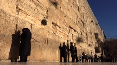 Jews Pray At The Western Wall Stock Footage