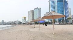Gwangan Beach in Busan Stock Footage