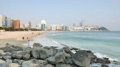 Haeundae beach Stock Footage