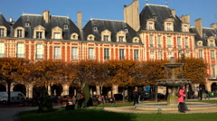 Place des Vosges in Paris. France. Stock Footage