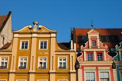 Historic Houses With Gable in Wroclaw - stock photo