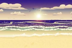 Seascape Stock Illustration