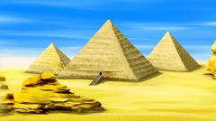 Pyramids of Egypt Stock Illustration