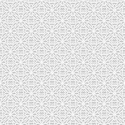Seamless white 3D pattern, arabic motif,  east ornament - stock illustration