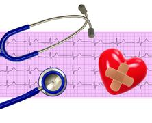 Heart analysis, electrocardiogram graph (ECG), heart and stethoscope Kuvituskuvat