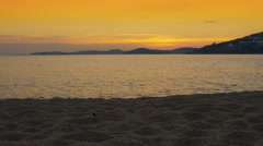 Amazing sunset by the quiet sea Stock Footage