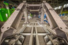 Modern steel production Stock Photos