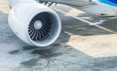 Jet engine of Air plane - stock photo