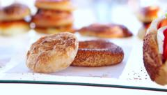 Boyoz and simit are sold by a street vendor Stock Footage