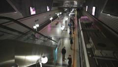 Izmir Metro, Konak station at Izmir city center. December 2015 - IZMIR - TURKEY Stock Footage