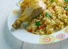 Chicken Dum Biryani Stock Photos