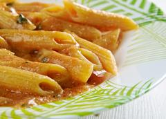 Penne ai peperoni Stock Photos