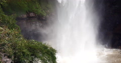 Waterfall (veu da noiva) at Chapada dos Guimaraes, Mato Grosso, Brazil Stock Footage