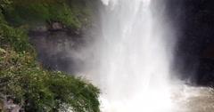 Waterfall (veu da noiva) at Chapada dos Guimaraes, Mato Grosso, Brazil Stock Footage