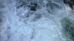 Winter Waterfall in Slow Motion. Top View. - stock footage