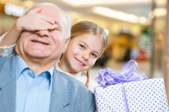 Treasuring every moment with granddaughter - stock photo