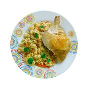 Chicken Dum Biryani - stock photo