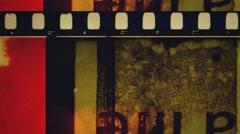 36 mm venom Grunge  film leader color Stock Footage
