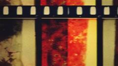 36 mm venom grunge filmleader - stock footage