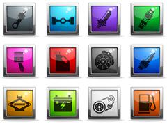Auto Service Icons set - stock illustration