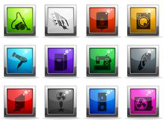 Home Appliances Icon Set Stock Illustration