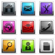 web site vector icon set - stock illustration