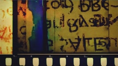 36 mm pop Grunge  film leader color - stock footage