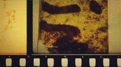 36mm pop Grunge film leader color - stock footage