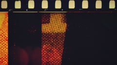 36 mm  vintage Grunge film leader Stock Footage