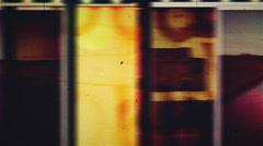 36mm pop Grunge film leader Stock Footage