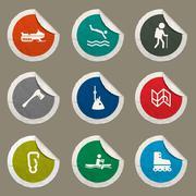 Active recreation icon set Stock Illustration