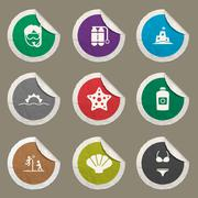 Beach simply icons Stock Illustration