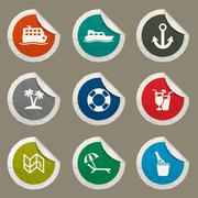 Stock Illustration of Cruise simply icons