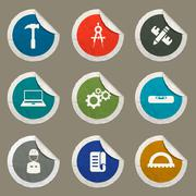 Engineering simply icons Stock Illustration