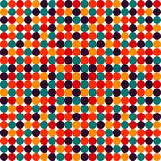 Seamless polka dot vector pattern Stock Illustration