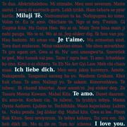 Text - I love you -  in different languages, some highlighted - stock illustration