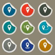 Pointer and maps icons set Stock Illustration