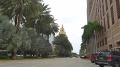 Coral Gables Downtown motion video Stock Footage